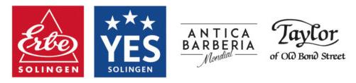 Markenlogos ERBE YES TAYLOR und MONDIAL